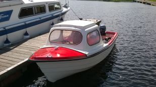Boat available for hire with house